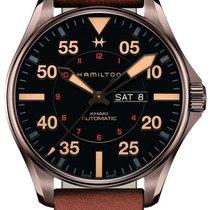 Hamilton H64705531 Acier 2021 Khaki Pilot Day Date 46mm nouveau