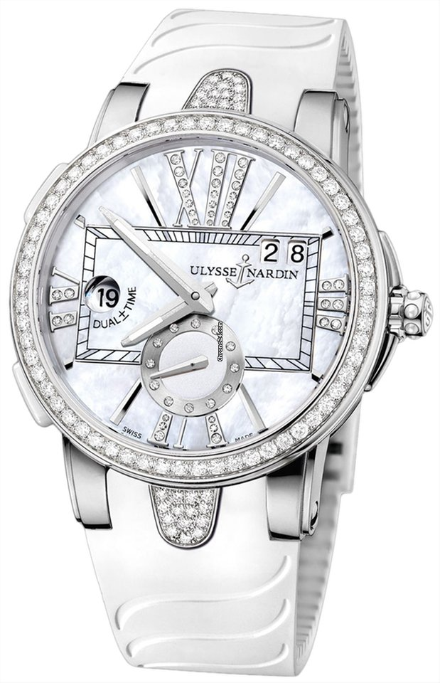 Ulysse Nardin Executive Dual Time Lady 243-10B-3C/391 pre-owned