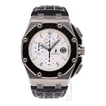 Audemars Piguet Chronograph Silver No numerals pre-owned Royal Oak Offshore Chronograph