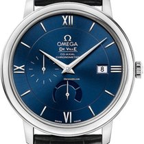 Omega Steel Automatic Blue Roman numerals 39.5mm new De Ville Prestige