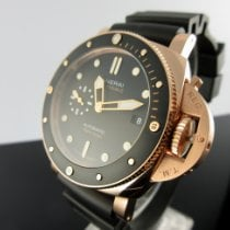 Panerai Roséguld Automatisk Svart Inga siffror 42mm ny Luminor Submersible