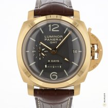 Panerai Luminor 1950 8 Days GMT Roségoud 45mm Bruin Arabisch Nederland, Maastricht