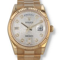 Rolex Day-Date 36 Yellow gold 36mm Silver United States of America, New Hampshire, Nashua