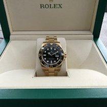 Rolex Gelbgold Automatik Schwarz Keine Ziffern 40mm neu GMT-Master II