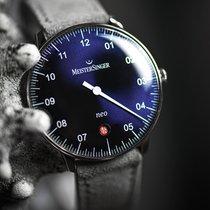 Meistersinger Neo Steel 36mm Blue Arabic numerals