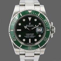 Rolex Submariner Date Stål 40mm Grønn Ingen tall