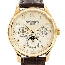 Patek Philippe Perpetual Calendar Żółte złoto 39mm Szampański Arabskie
