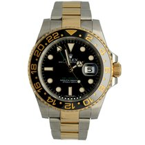 Rolex GMT-Master II Acero y oro 40mm Negro Sin cifras