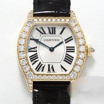 Cartier Gelbgold Handaufzug Silber Römisch 36mm gebraucht Tortue