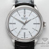 Rolex Cellini Time Белое золото 39mm Белый Римские