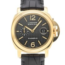 Panerai Or jaune Remontage automatique Noir 44mm occasion Luminor Marina Automatic