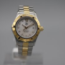 TAG Heuer Aquaracer Lady pre-owned 27mm Mother of pearl Date Gold/Steel