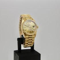 Rolex Day-Date 36 Oro amarillo 36mm Plata Sin cifras