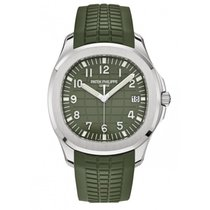 Patek Philippe White gold Automatic Green 42.2mm pre-owned Aquanaut