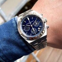 Vacheron Constantin Overseas Chronograph Steel 42.5mm Blue No numerals