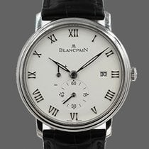 Blancpain Villeret Ultra-Slim Acero 40mm Blanco Romanos