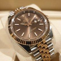 Rolex Datejust II Gold/Stahl 41mm Braun Keine Ziffern Schweiz, Rorschach