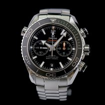 Omega Seamaster Planet Ocean Chronograph Acero 45,5mm Negro