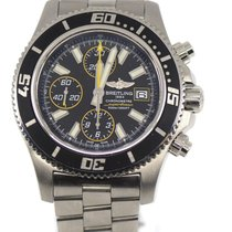 Breitling Steel Automatic Black 44mm pre-owned Superocean Chronograph II