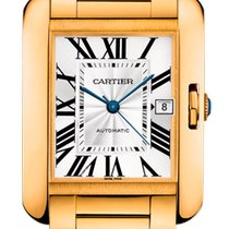 Cartier Tank Anglaise Желтое золото 47mm Cеребро
