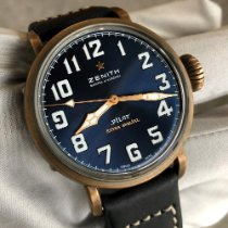 Zenith Pilot Type 20 Extra Special Bronze 40mm Blue Arabic numerals United States of America, Texas, Frisco