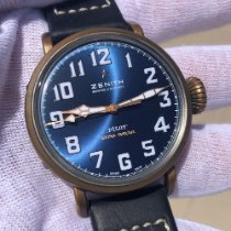 Zenith Pilot Type 20 Extra Special pre-owned 40mm Blue Leather
