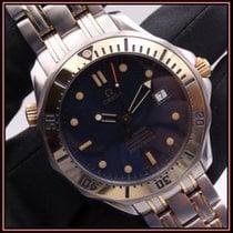 Omega Seamaster Diver 300 M Gold/Steel 41mm Blue No numerals