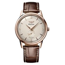 Longines Rose gold Automatic Silver 38.5mm new Flagship Heritage