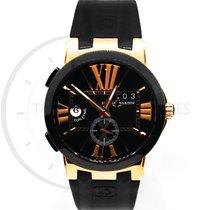 Ulysse Nardin Executive Dual Time Rose gold 43mm Black Roman numerals United States of America, Florida, Miami