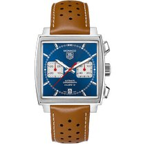 TAG Heuer Monaco Calibre 12 new Automatic Chronograph Watch with original box and original papers CAW2111.FC6255