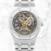 Audemars Piguet Royal Oak Tourbillon neu 2018 Handaufzug Uhr mit Original-Box und Original-Papieren 26511PT.OO.1220PT.01