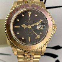 Rolex GMT-Master Gelbgold 40mm Braun Keine Ziffern Schweiz, Roveredo