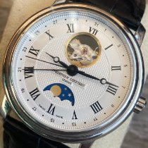 Frederique Constant Classics Moonphase Steel 40mm Silver Roman numerals