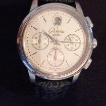 Glashütte Original Senator Chronograph gebraucht 39,3mm Silber Chronograph Datum Haifischleder