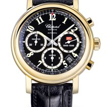 Chopard Yellow gold Automatic Black 38mm pre-owned Mille Miglia