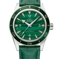 Omega Platinum Automatic Green 41mm new Seamaster Diver 300 M