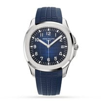 Patek Philippe White gold Automatic Blue Arabic numerals 42.2mm new Aquanaut