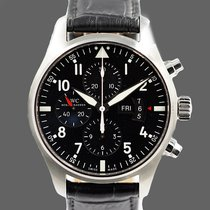 IWC Pilot Chronograph Otel 43mm Negru Arabic