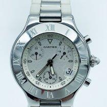 Cartier 21 Chronoscaph Acier 38mm Blanc France, Paris