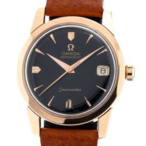 Omega Rose gold Automatic Black 34mm pre-owned Seamaster