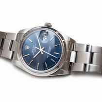 Rolex Oyster Perpetual Date occasion 34mm Bleu Date Acier