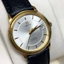 Omega De Ville Prestige Yellow gold 34mm Silver No numerals