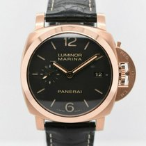 Panerai Rose gold Brown Arabic numerals 43mm pre-owned Luminor Marina 1950 3 Days Automatic