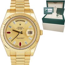 Rolex Day-Date II Yellow gold 41mm Champagne No numerals United States of America, New York, New York