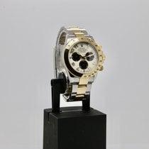 Rolex Daytona Золото/Cталь 40mm Белый Без цифр