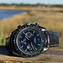 Omega Titanium Automatic Blue No numerals 44.5mm pre-owned Speedmaster Professional Moonwatch