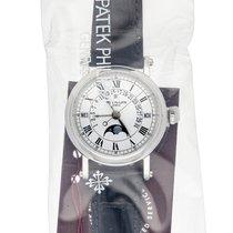 Patek Philippe Platinum Automatic White Roman numerals 36mm pre-owned Perpetual Calendar
