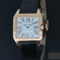 Cartier Roségold Quarz Silber 31mm gebraucht Santos Dumont