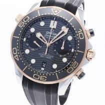 Omega Seamaster Diver 300 M Or/Acier 44mm Noir Sans chiffres