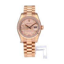 Rolex Rose gold Automatic Pink Roman numerals 26mm new Lady-Datejust